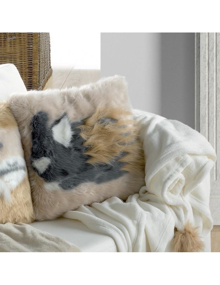 Coussin Brushy Lapin Blush 40 x 40 5949031000Les Ateliers du Linge