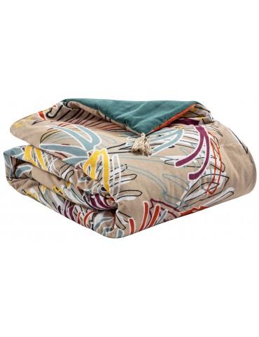 Edredon pompons Elise Campa Multicolore 80 x 180 6741035000Vivaraise