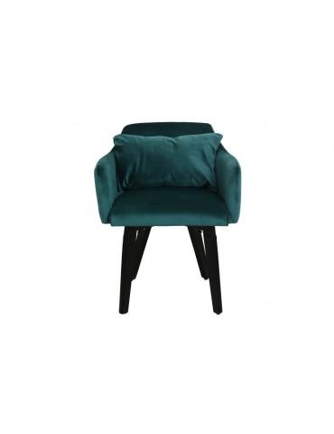 Lot de 2 fauteuils scandinaves Gybson Velours Vert LH5030lot2green