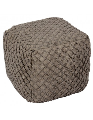 Pouf Bruges Tissu Taupe shy10putty