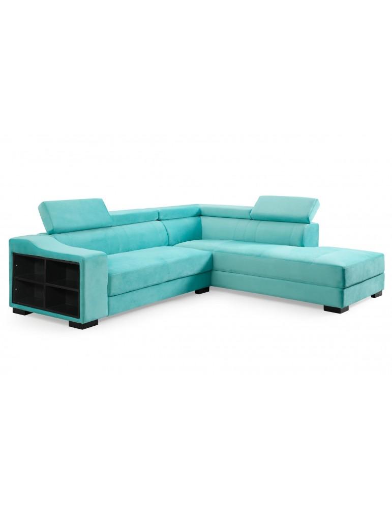 Canapé d'angle en velours Onoz Vert 1195right31744vgreen