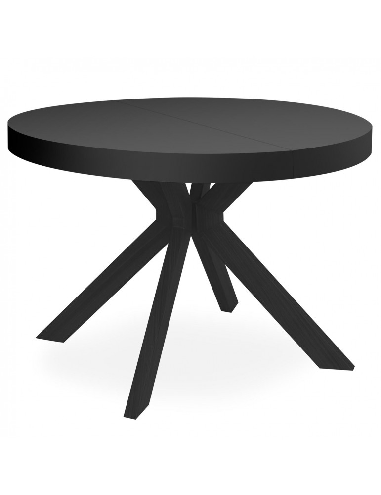 Table ronde extensible Myriade All Black at8244bblack