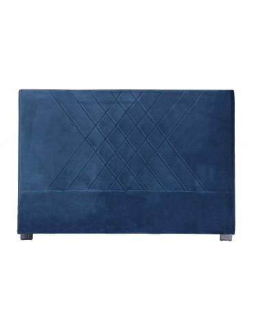 Tête de lit Diam 180cm Velours Bleu lf257180bluevelvet