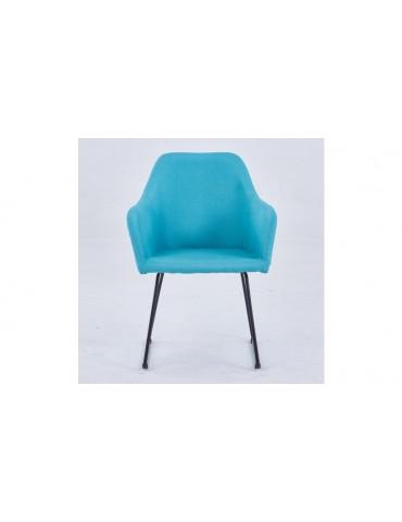 Chaise/Fauteuil Epok Métal Noir et Tissu Bleu c1020blue