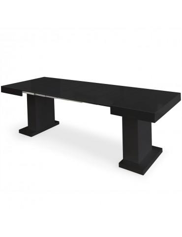 Table extensible Mustang Noir laqué br16250noir
