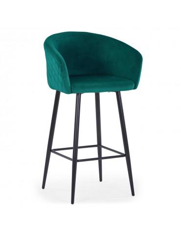 Chaise de bar Bobby Velours Vert c1024velvetgreen