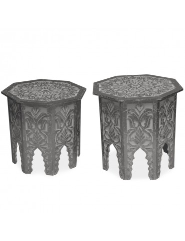 Lot de 2 tables d'appoint Babou Gris Foncé g38722darkgrey