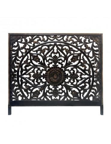 Tête de lit Menara 160cm Bois Noir & Or ma160boisblackgold