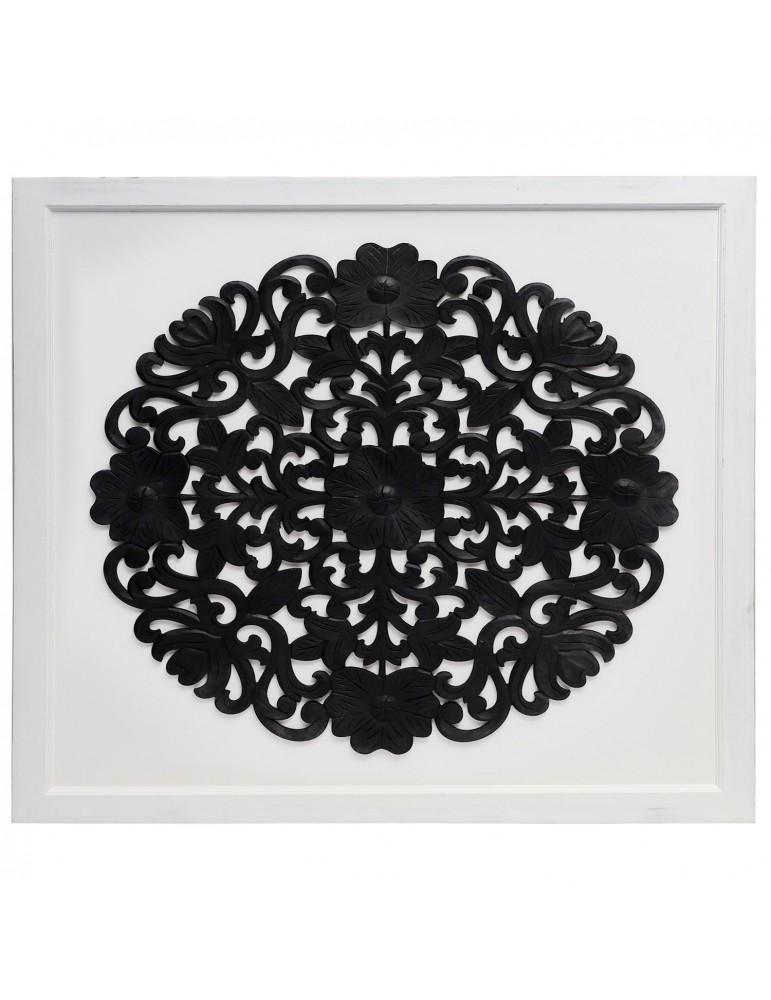 Tête de lit Venezia 160cm Bois Blanc et Noir 160g41061black
