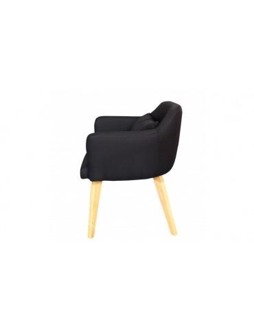 Chaise / Fauteuil scandinave Shaggy Tissu Noir lsr19117blackfabric