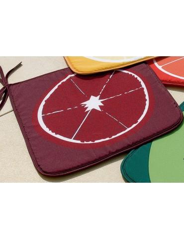 Galette de chaise Frutti Prune 38 x 38 x 2 cm 5890195000Les Ateliers du Linge