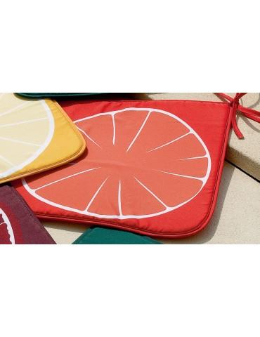 Galette de chaise Frutti Orange 38 x 38 x 2 cm 5890192000Les Ateliers du Linge