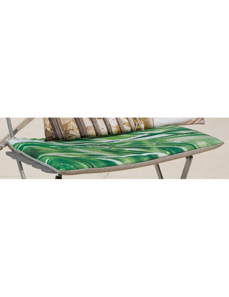 Galette de chaise plate Imprimée Outdoor Imprimé Herbe 38 x 38 x 2 cm 2155094000Les Ateliers du Linge