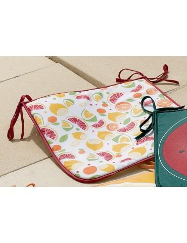 Galette de chaise Frutti Multicolore 38 x 38 x 2 cm 5890194000Les Ateliers du Linge
