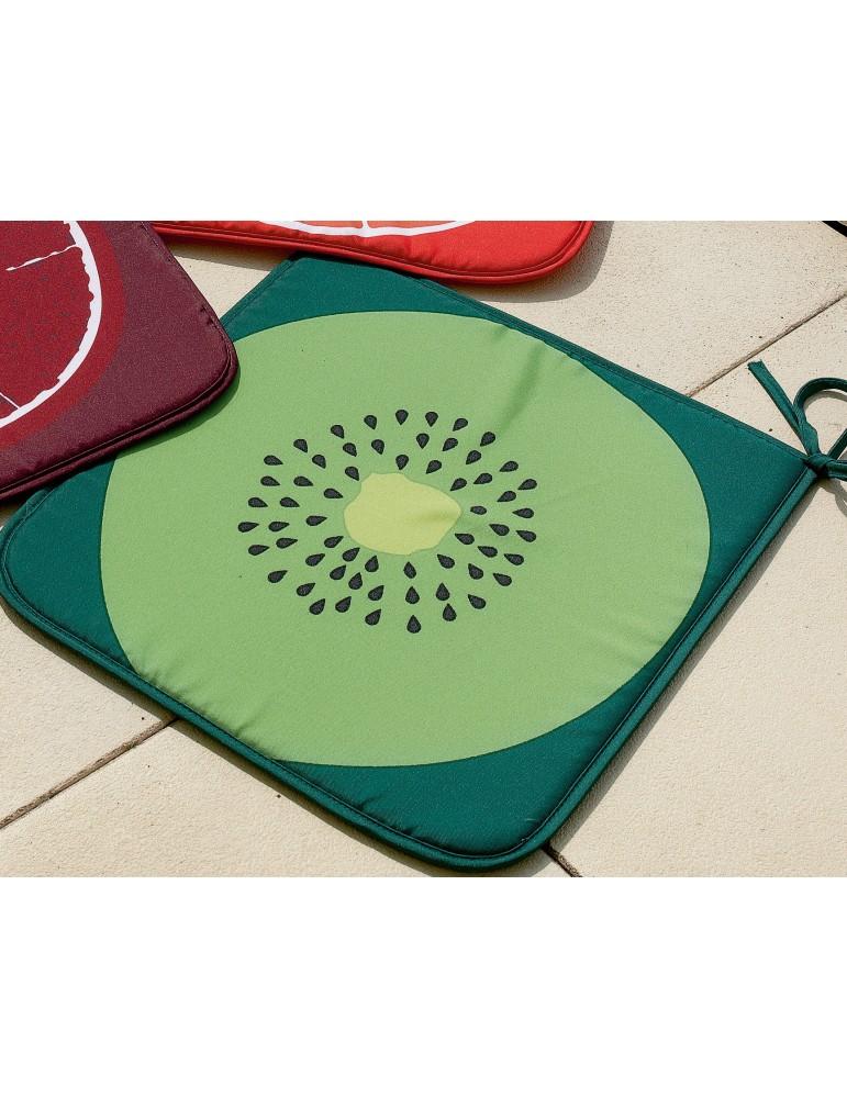 Galette de chaise Frutti Vert 38 x 38 x 2 cm 5890191000Les Ateliers du Linge