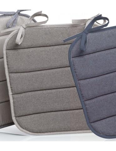 Galette de chaise plate Outdoor Chinée Gris foncé 37 x 37 x 1 cm 2151075000Les Ateliers du Linge