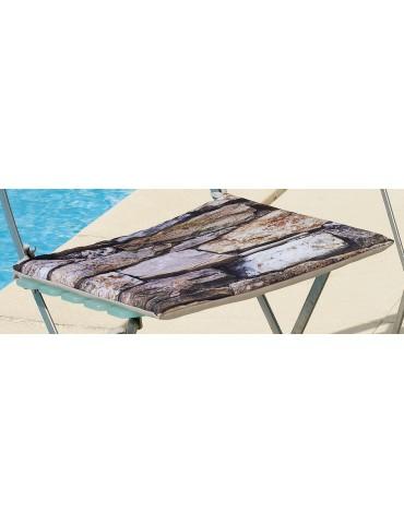 Galette de chaise plate Imprimée Outdoor Imprimé Roche 38 x 38 x 2 cm 2155091000Les Ateliers du Linge