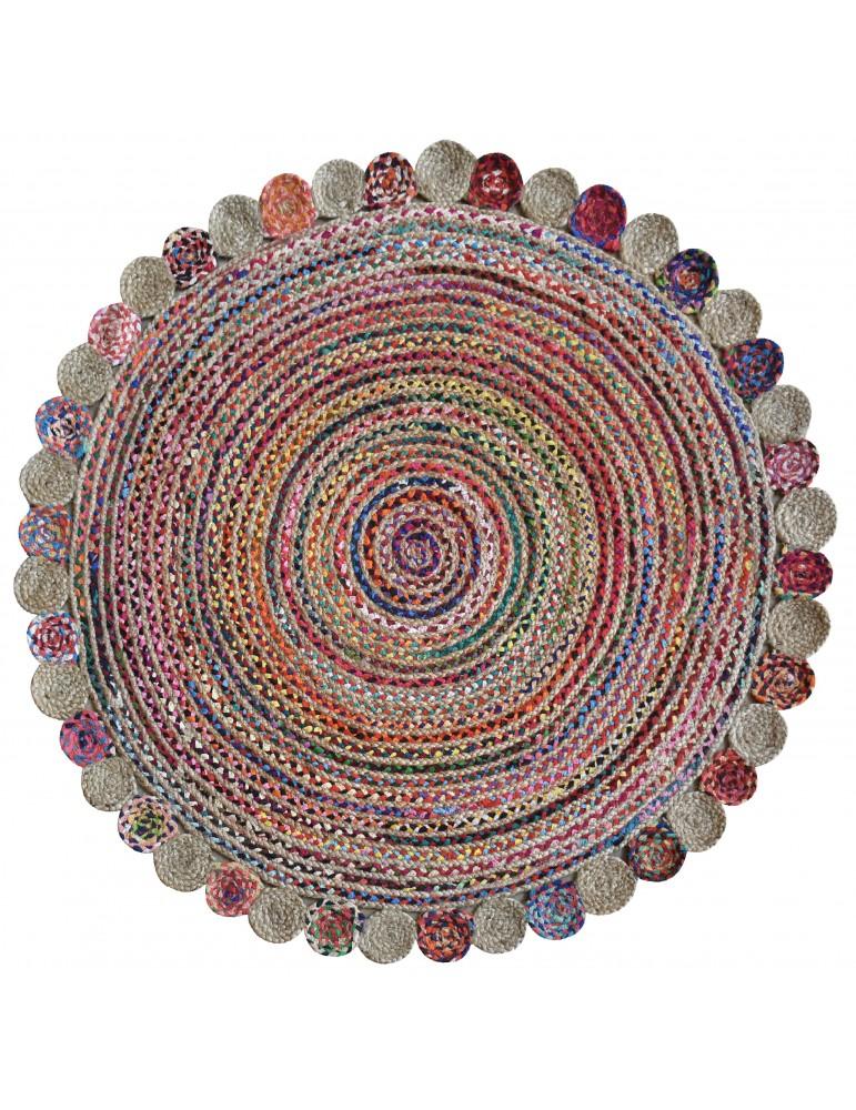 Tapis Accra Multicolore diamètre 120 4717090000The Rug Republic