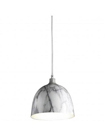 suspension metal imitation marbre olla gris et blanc 26230