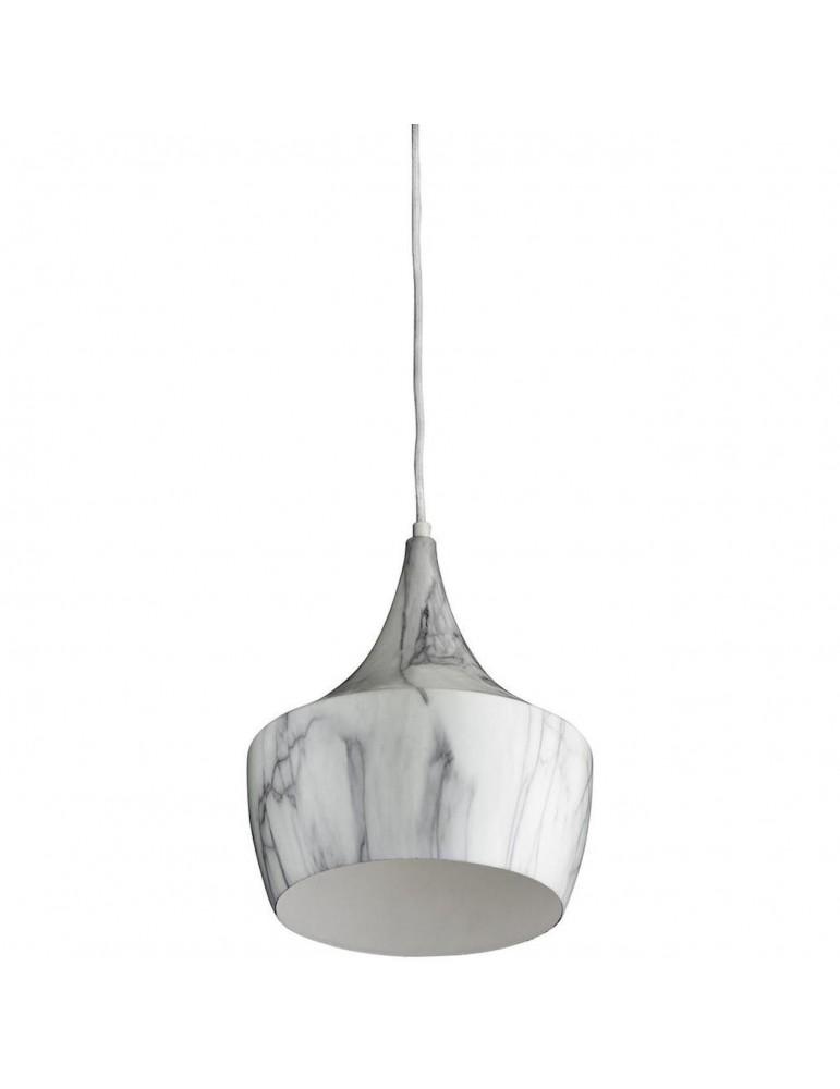 suspension metal imitation marbre olla gris et blanc 26231
