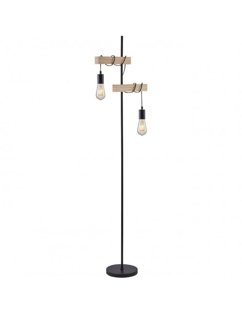 lampadaire industriel lucien noir et blanc 26410BS