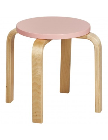 Tabouret enfant elona rose 41303RE