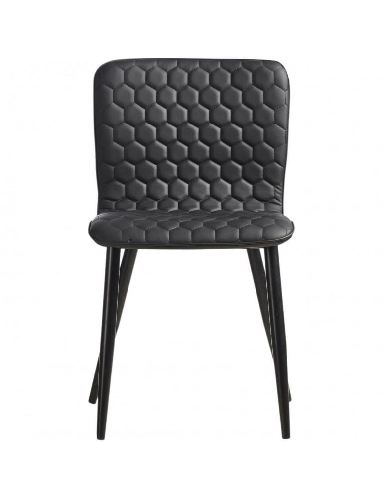 Lot de 4 chaises de sejour design bronco noir 43110NO