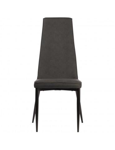 Lot de 4 chaises elegantes loa gris 52866GR