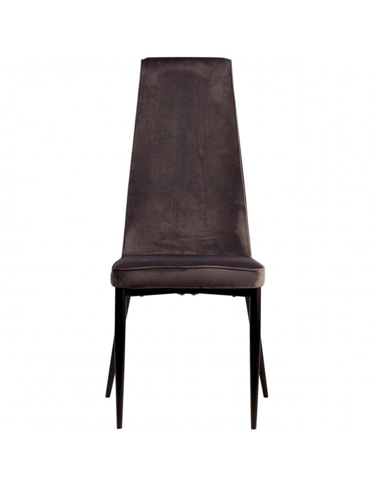 Lot de 4 chaises elegantes adeline gris 52867GR