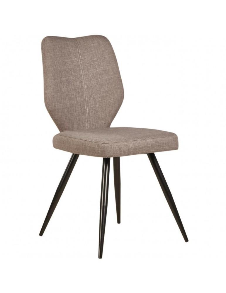 Lot de 2 chaises de salle à manger gigi gris 52868GR