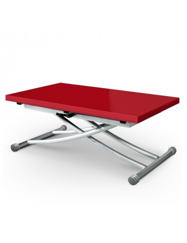 Table basse relevable carrera rouge laque b2219 s rouge laque - Table basse rouge laque ...