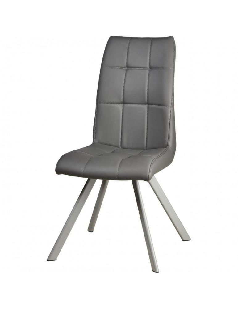 Lot de 2 chaises de salle à manger wisteria gris 52871GR