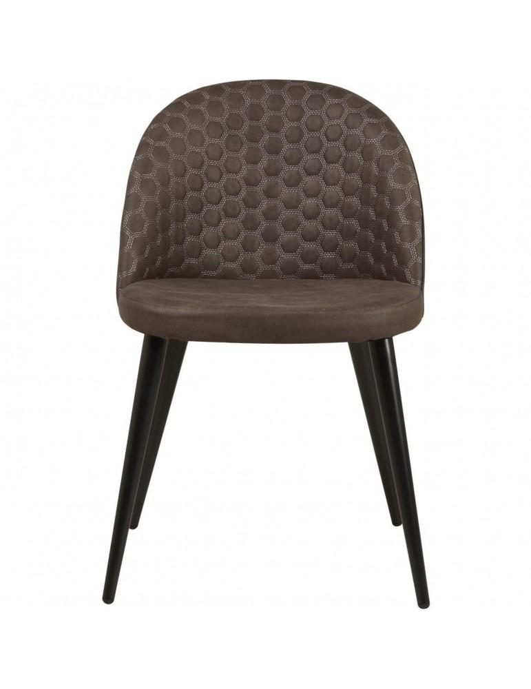 Lot de 4 chaises de sejour lumo gris 54408GR