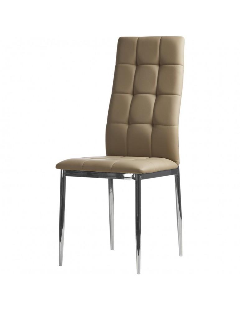 Lot de 4 chaises ariba taupe 58203TA