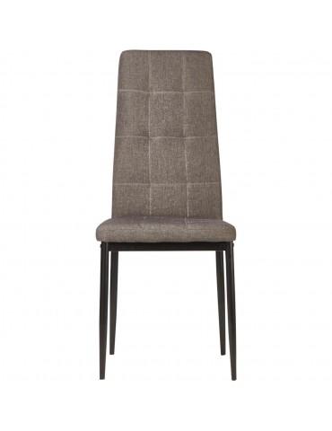 Lot de 4 chaises en lin kendal gris 58205GR