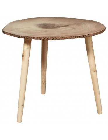 Table d'appoint scandinave senk beige bois 67055BS