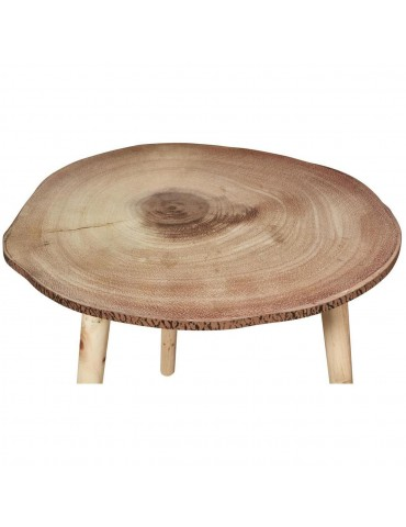 Table d'appoint scandinave senk beige bois 67055BS