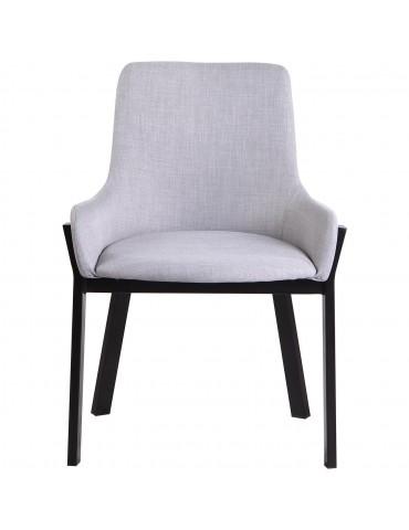 Lot de 4 chaises de sejour reema gris 74201GC