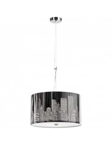 suspension branchee en metal decor new york city jacob aluminium 3104AL