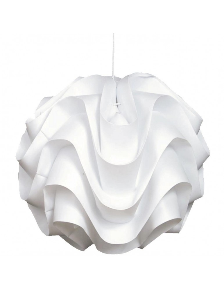 suspension boule ondulée bourbon blanc 3242BL