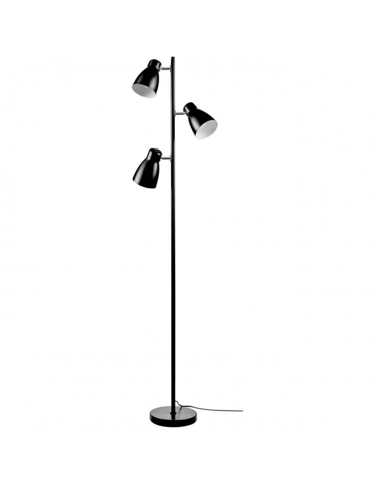 lampadaire à trois têtes rhye noir 26653NO