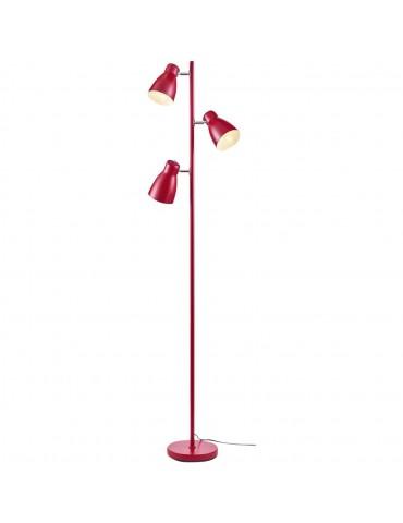 lampadaire à trois têtes rhye rouge 26653RO