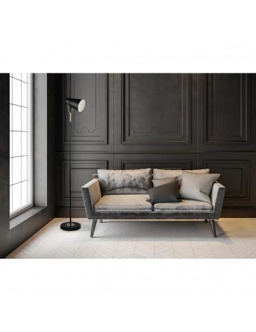 lampadaire moderne style projecteur metal masako noir 26642NO