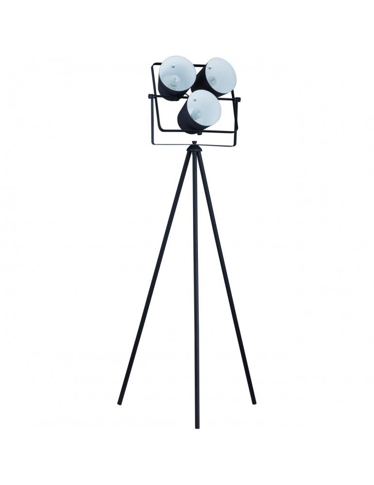 lampadaire moderne asare noir 26645NO