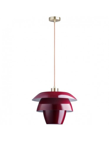 suspension en metal design facon fleur de lotus fonteyn rouge 26634RO