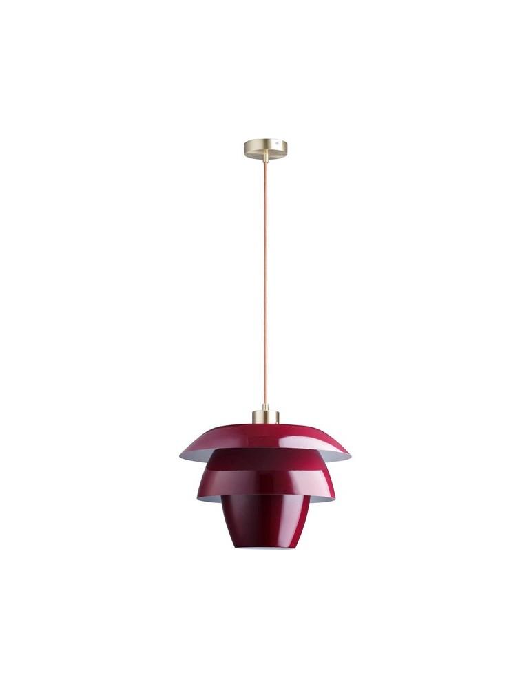 suspension en metal design facon fleur de lotus fonteyn rouge 26634RO