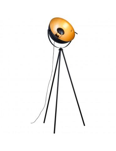 lampadaire trépied facon cinema flippa noir 26632NO