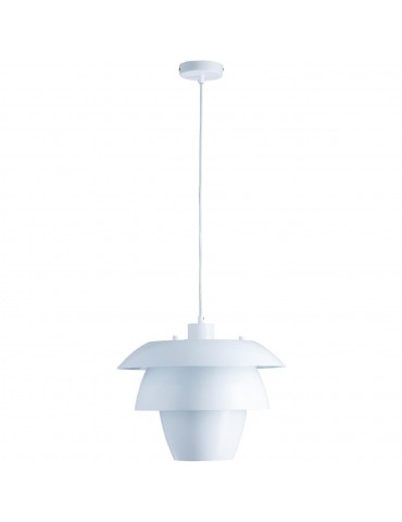 suspension en metal design facon fleur de lotus fonteyn blanc 26634BL