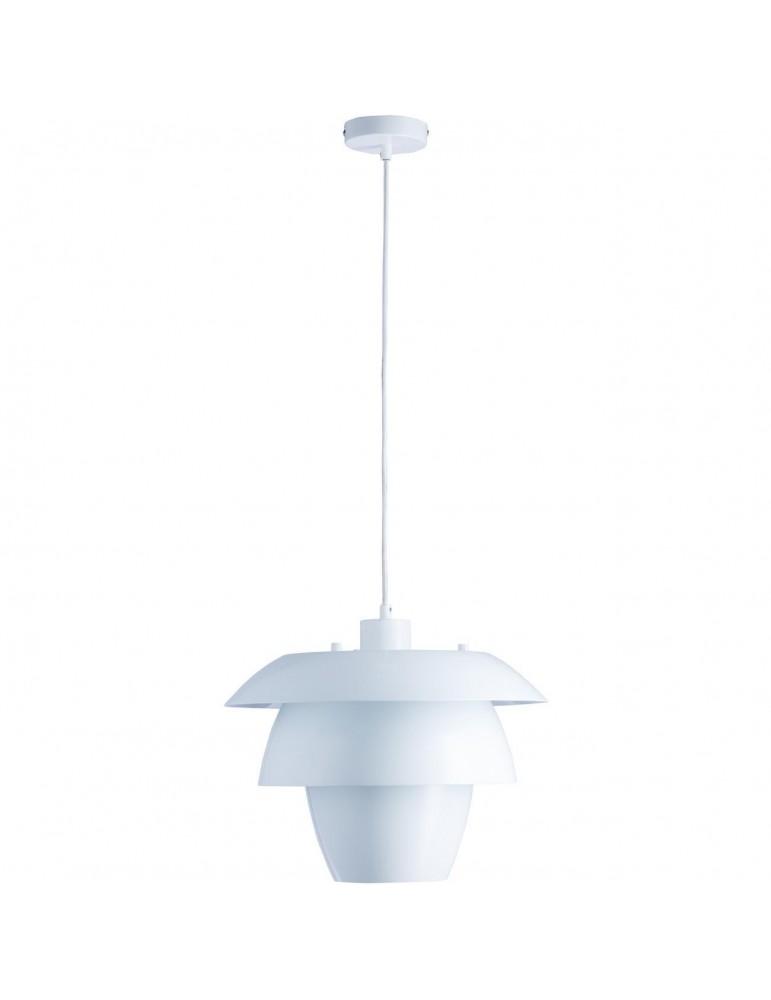 suspension en metal design facon fleur de lotus fonteyn blanc 26634BL