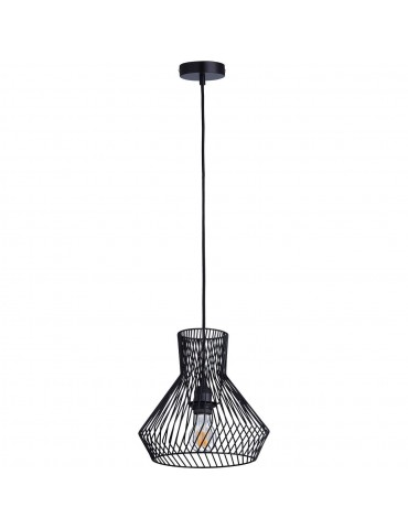 suspension moderne et design en metal facon cage cairn noir 26625NO